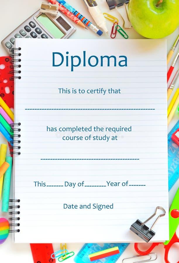 Diploma da escola foto de stock