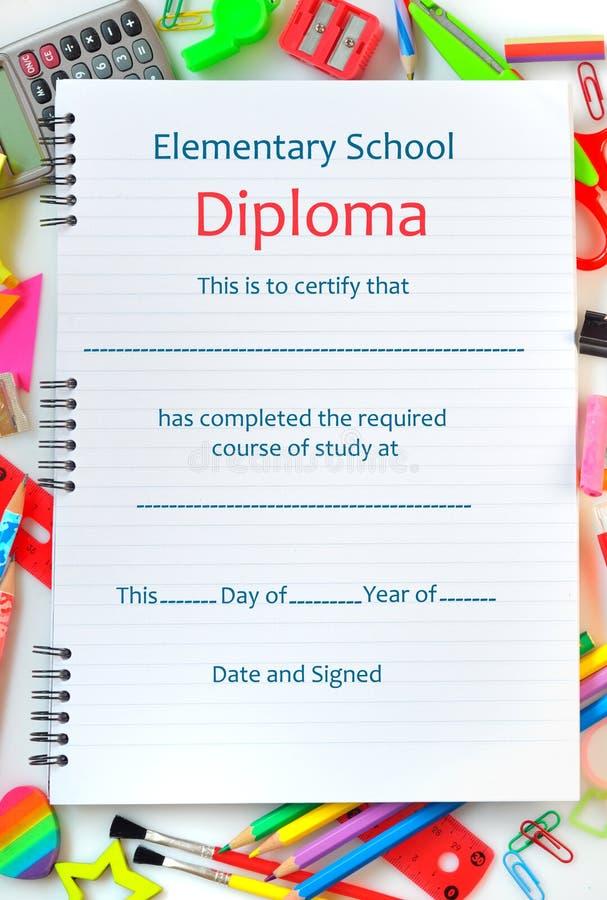 Diploma da escola imagens de stock