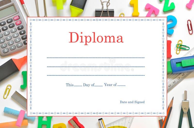 Diploma da escola ilustração royalty free
