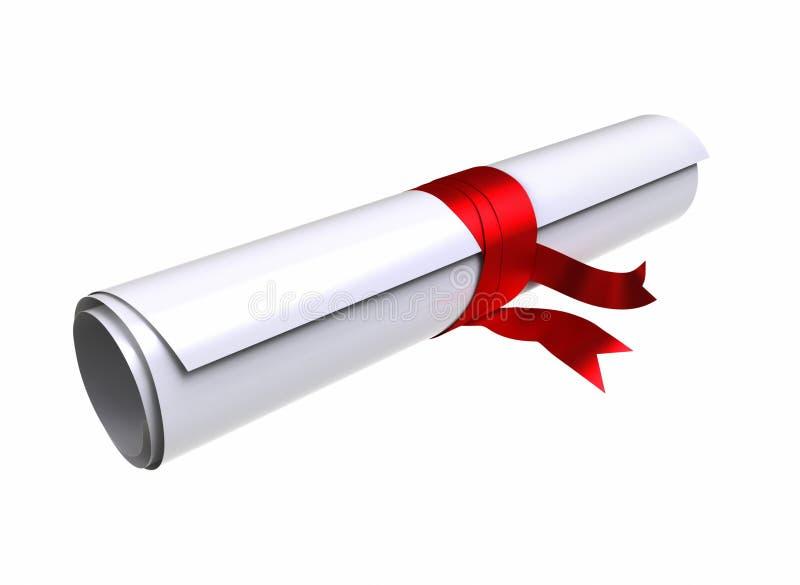 Diploma da graduação ilustração stock