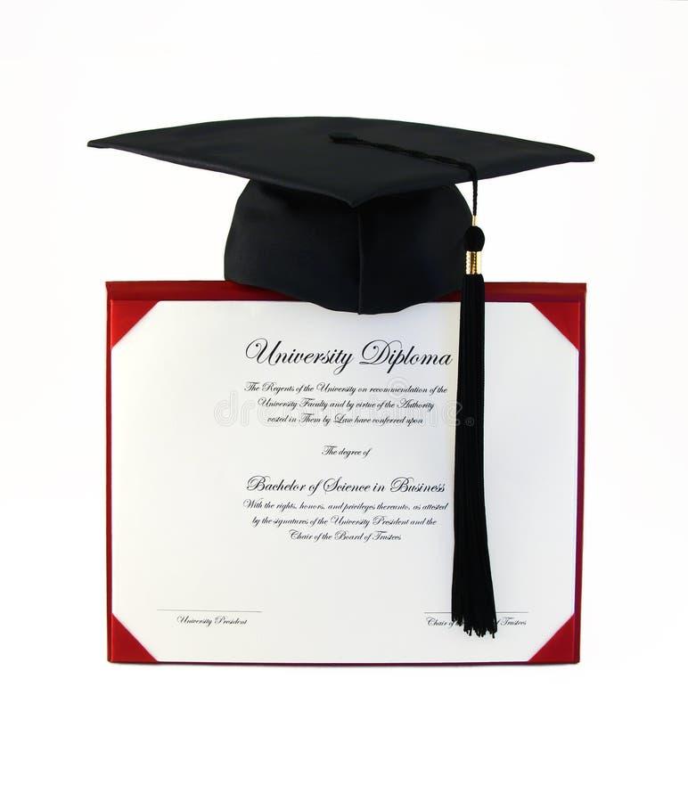 Diploma de la universidad foto de archivo