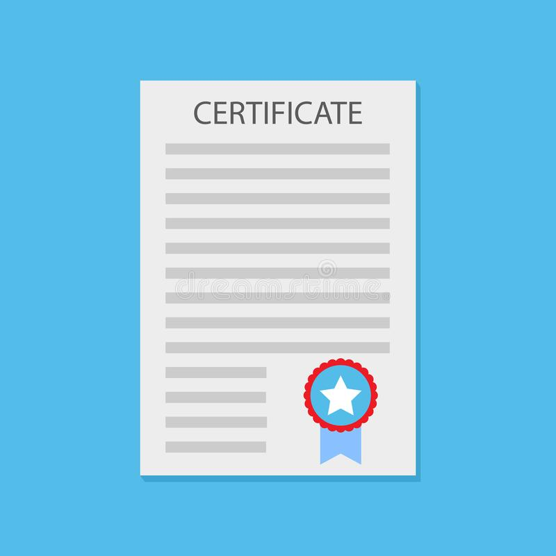 Diploma del certificato piano illustrazione vettoriale