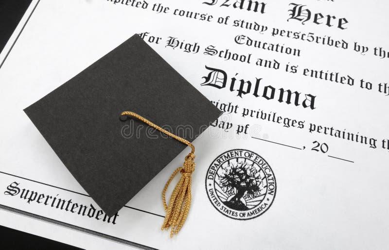 Diploma del Hs fotos de archivo libres de regalías