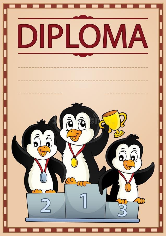 Diploma design image 6. Eps10 vector illustration royalty free illustration