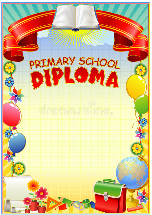 Diploma design template vector illustration