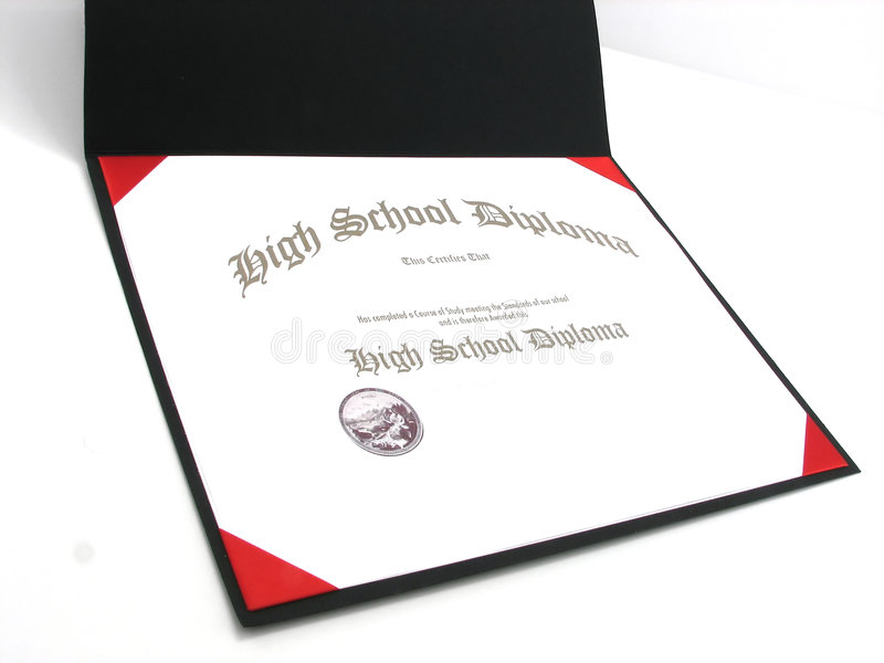 Diploma di High School generico immagine stock