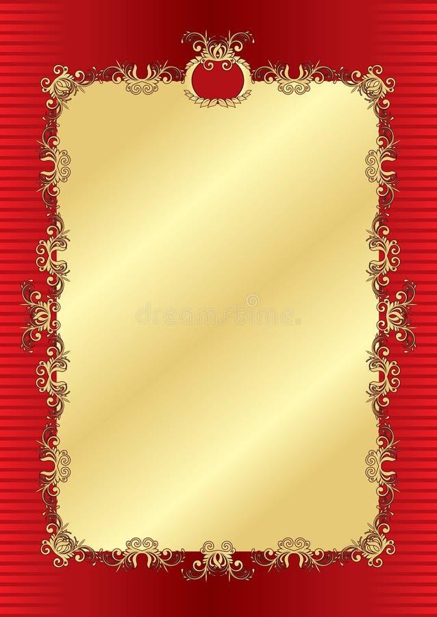 diploma do ouro do molde ilustração stock