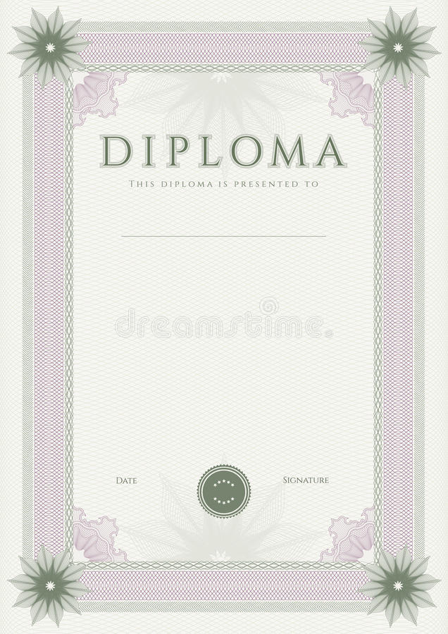Download Diploma / Сertificate Award Template. Pattern Stock Image - Image of finishing, complicated: 34270567