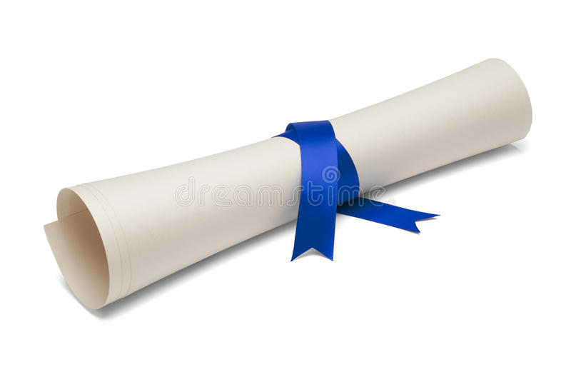 Diploma graduado imagen de archivo libre de regalías