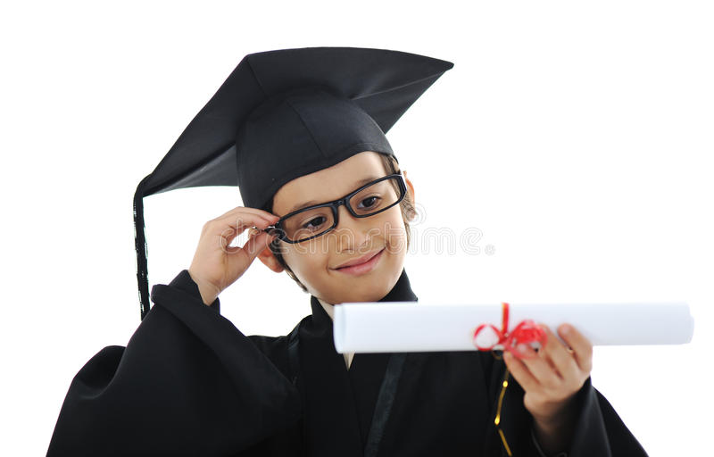 Download Diploma Graduating Little Student Kid Stock Image - Image: 23355893