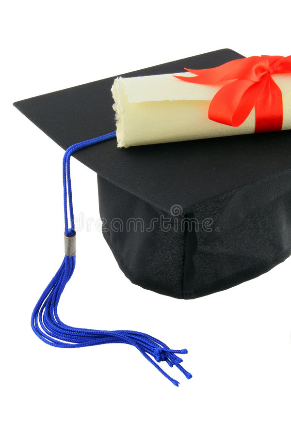 Diploma And Graduation Cap Royalty Free Stock Images