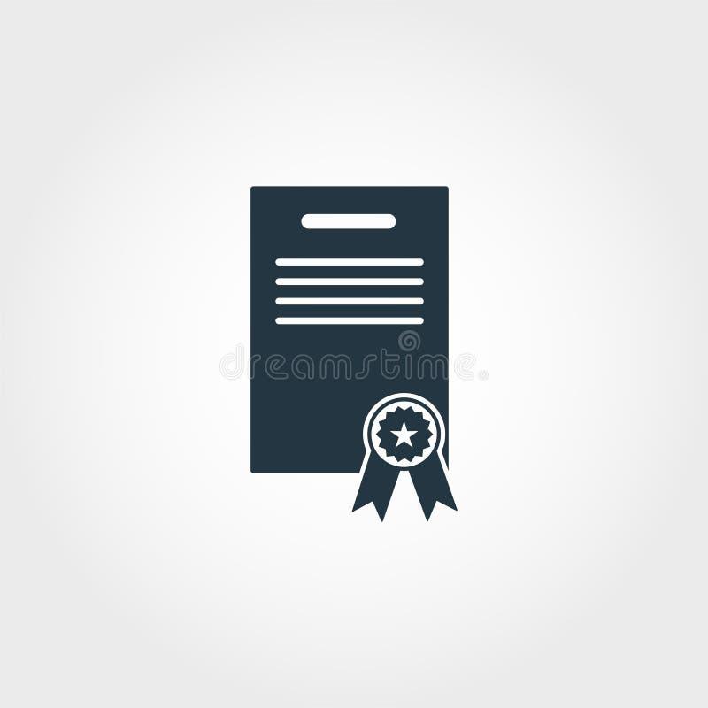 Diploma icon. Premium monochrome design from education icon collection. Creative diploma icon for web design and printing usage. Diploma icon. Premium stock illustration