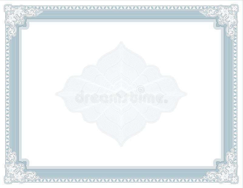 Diploma isolado - certificado - concessão para a cópia ilustração royalty free