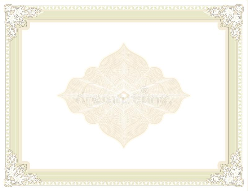 Diploma isolato - certificato - premio per la stampa illustrazione vettoriale