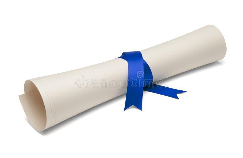Diploma laureato immagine stock libera da diritti