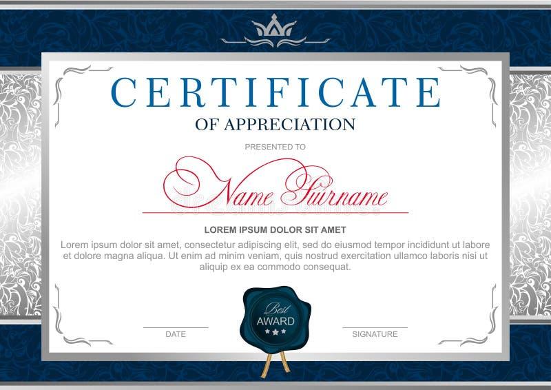 Diploma no estilo real ilustração royalty free