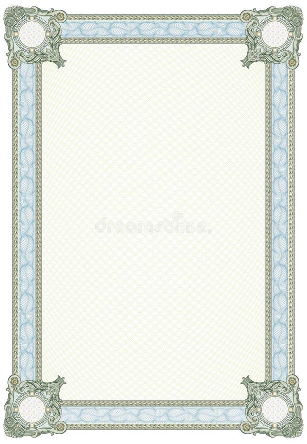 Diploma o certificato in bianco royalty illustrazione gratis