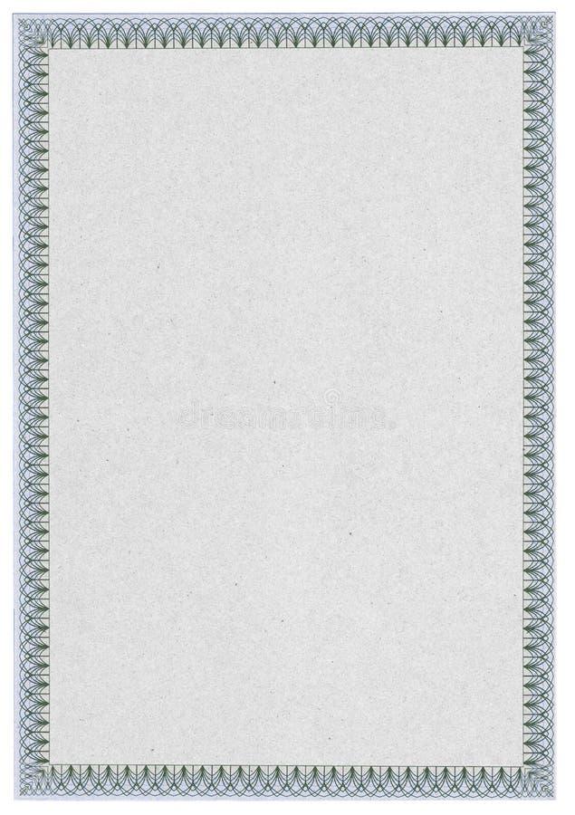 Diploma ou certificado em branco clássico com beira