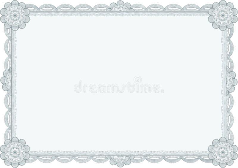 Diploma ou certificado/vetor ilustração do vetor