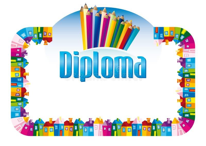Diploma para crianças ilustração do vetor