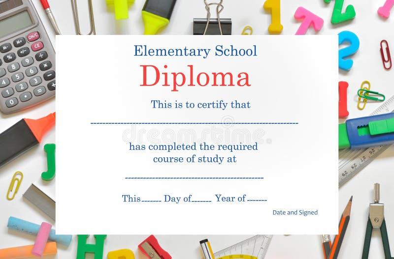 Diploma pré-escolar ilustração do vetor