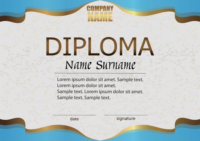 diploma ricompensa Conquista della concorrenza vincitore del premio illustrazione vettoriale