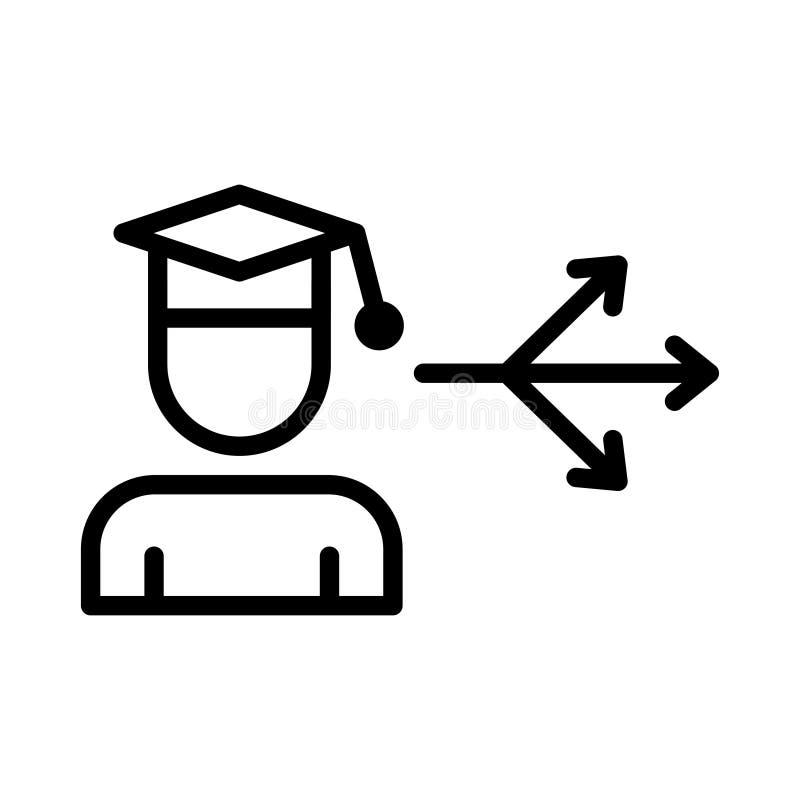 Diploma thin line vector icon vector illustration