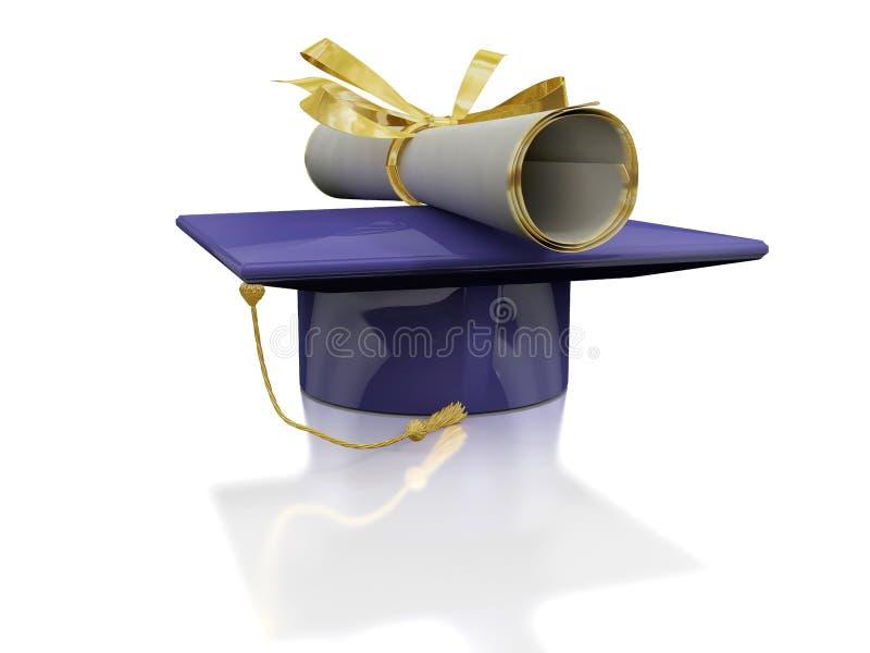 Diploma van een vrijgezel vector illustratie