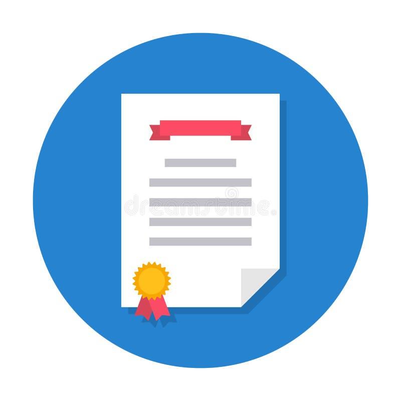 Diploma vlak pictogram vector illustratie