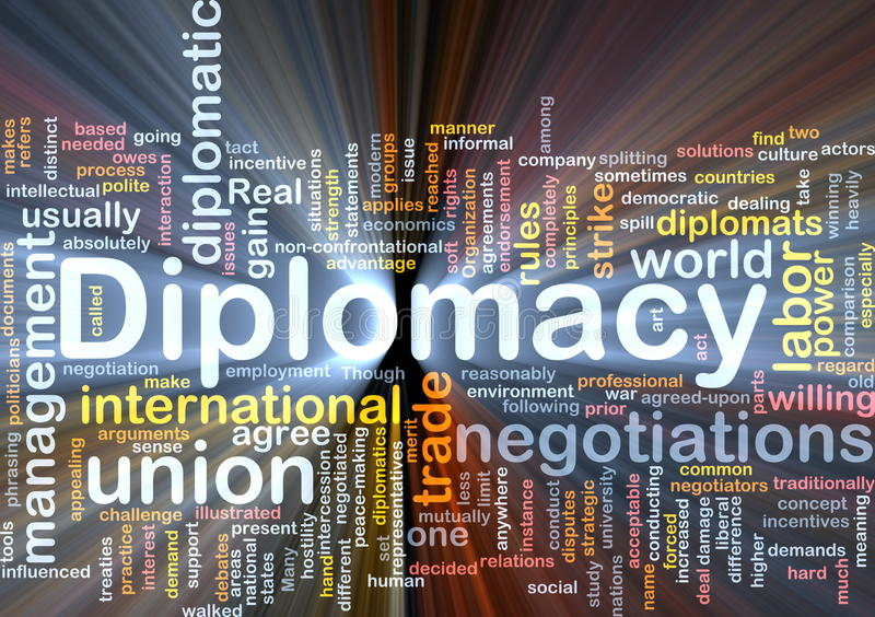Diplomacy background concept glowing vector illustration