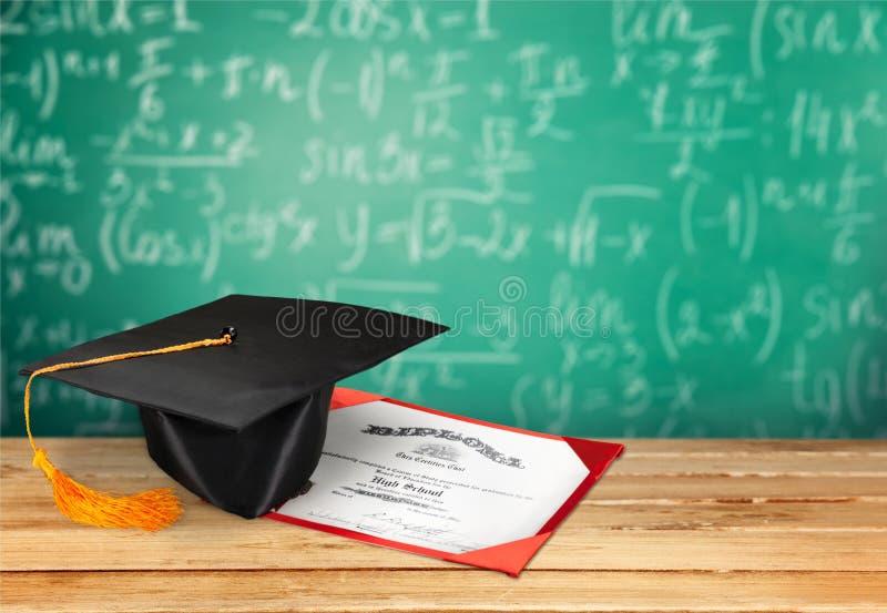 Diplomagraduatie stock foto
