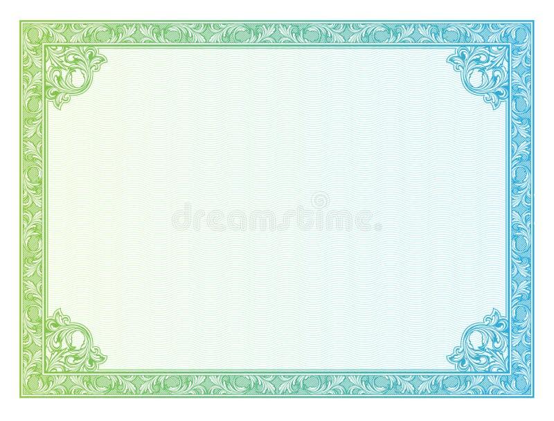 Diplomas da beira do molde, certificado