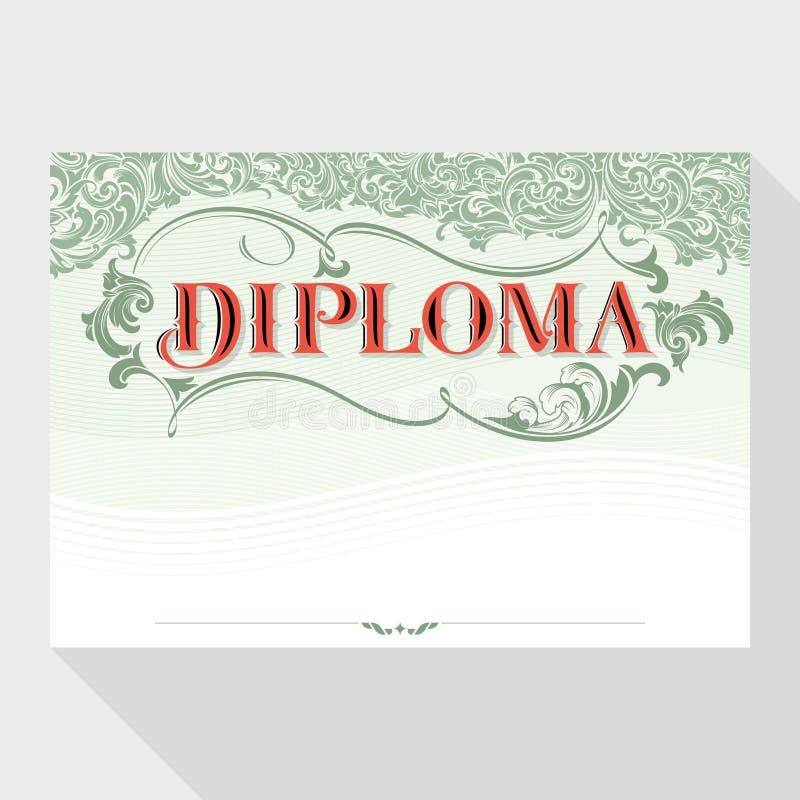 Diplomdesignmall stock illustrationer