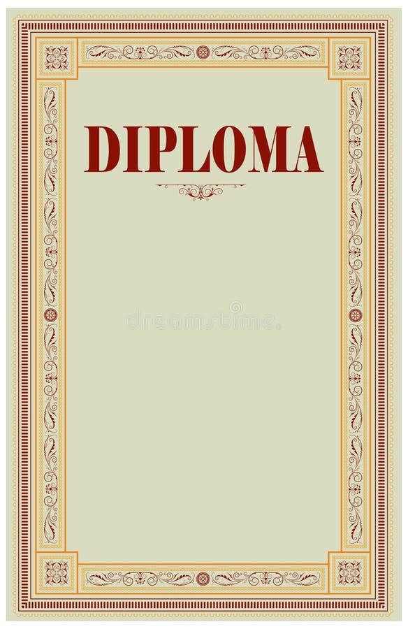 Download Diplommall vektor illustrationer. Illustration av utmärkelsen - 27287210