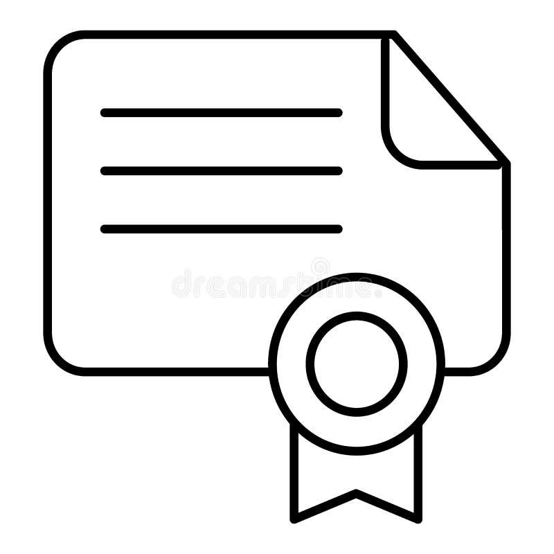 Diplomvektorsymbol som är passande för informationsdiagram, websites och tryckmassmedia och manöverenheter Certifikatsymbol som i vektor illustrationer