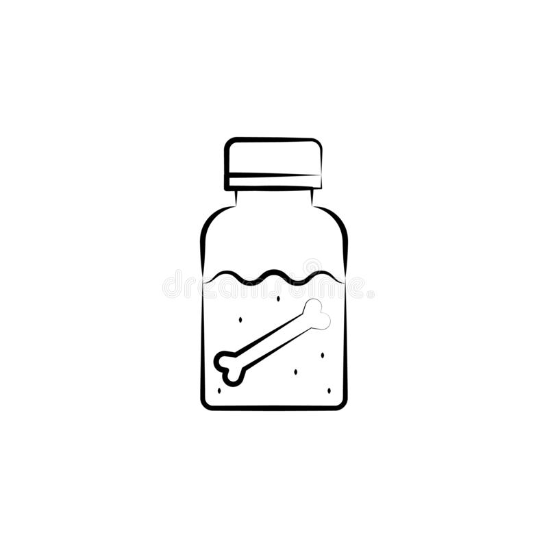 Dipple icon. Element of mad science icon for mobile concept and web apps. Hand drawn Dipple icon can be used for web and mobile. On white background vector illustration