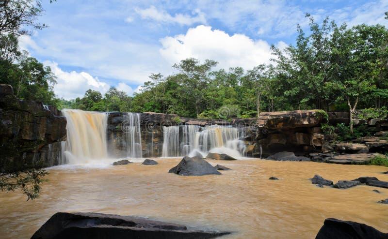 Dipterocarp forest waterfall