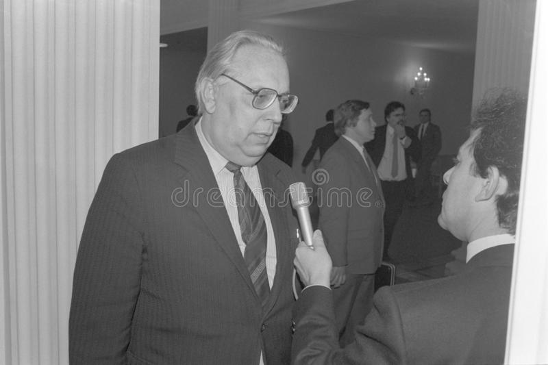 Diputado Prime Minister de Letonia Ilmars Bishers fotos de archivo