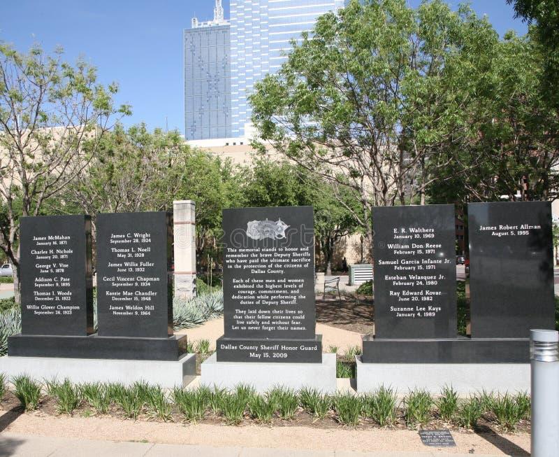 Diputado Sheriffs Memorial Dallas, Tejas fotografía de archivo libre de regalías