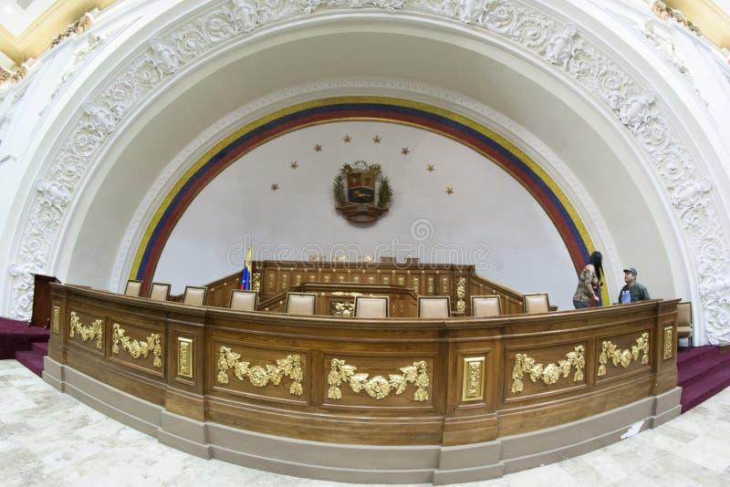 Diputados Downtown Caracas Venezuela de la política del congreso de Capitolio de la asamblea nacional imagenes de archivo