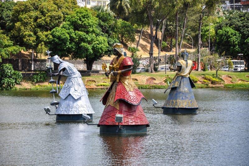Dique DE Tororo, Salvador de Bahia (Brazilië) stock foto