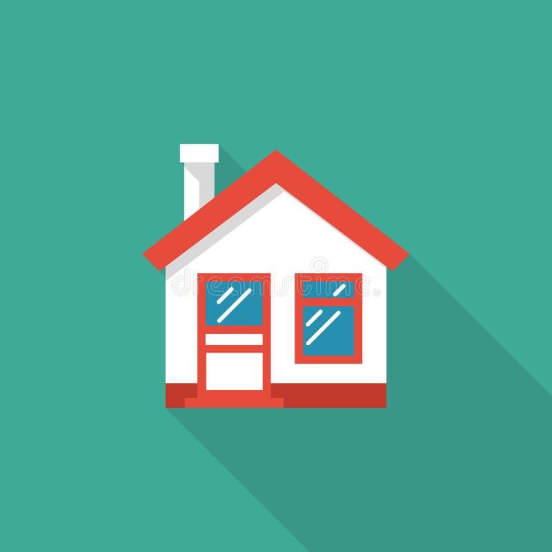 Diríjase el icono Diseño plano del ejemplo del vector de la casa stock de ilustración