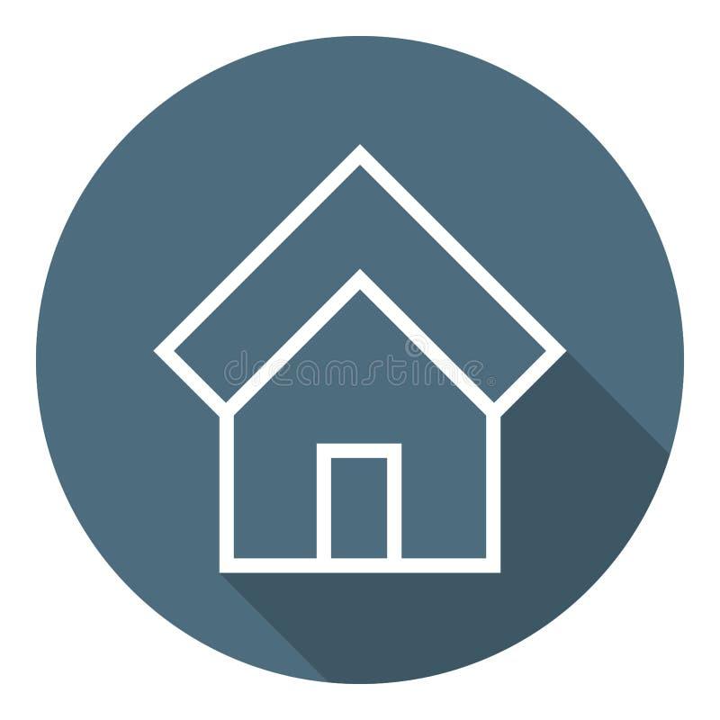Dir?jase el icono Casa del estado Estilo plano del esquema Ejemplo para su dise?o, web del vector libre illustration