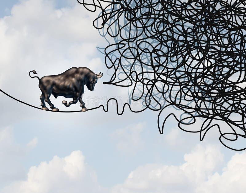 Dirección confusa del mercado de acción de Bull ilustración del vector