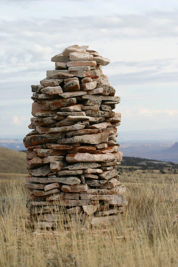 Dirección de la pila de la roca imagen de archivo