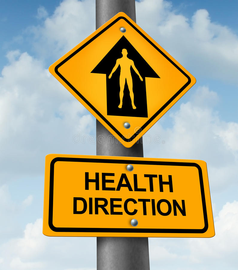 Dirección de la salud stock de ilustración