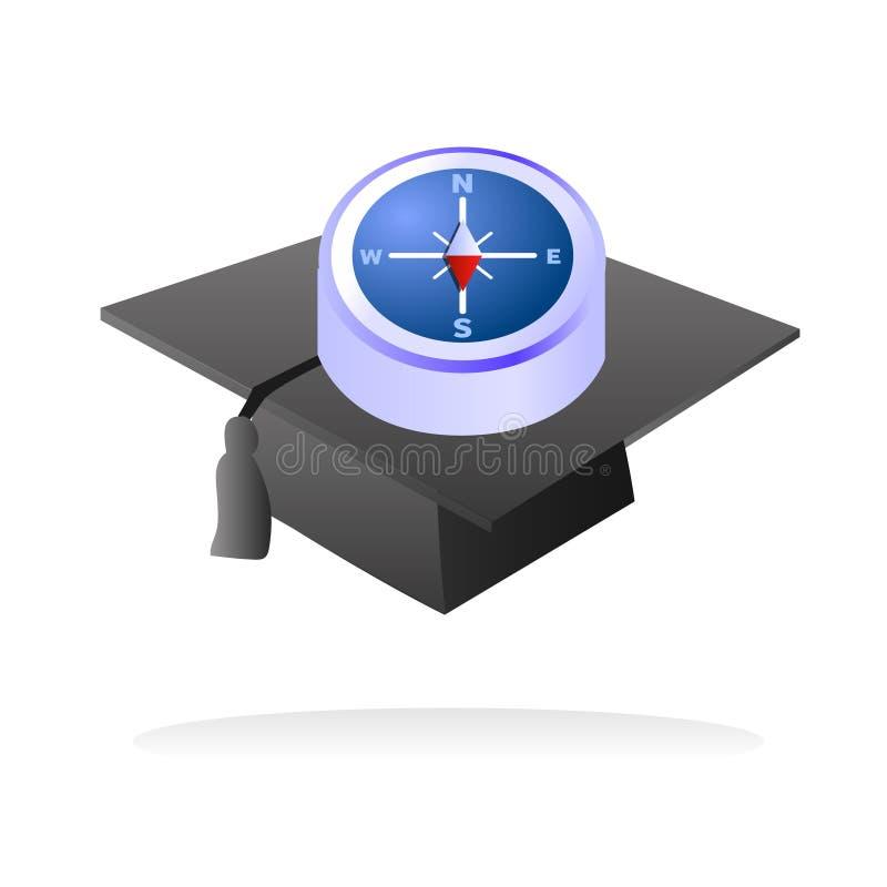 Dirección de la universidad y de la universidad stock de ilustración