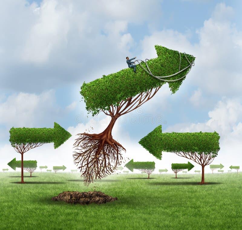 Dirección del crecimiento ilustración del vector