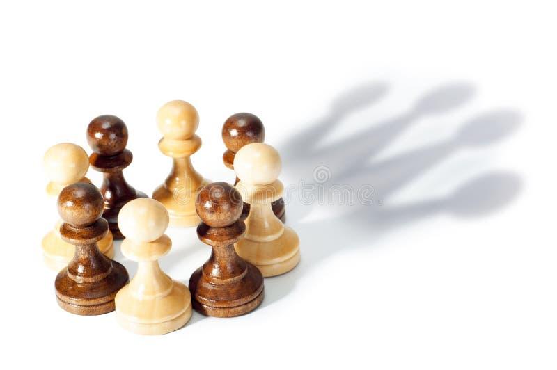 Dirección del negocio, poder del trabajo en equipo y concepto de la confianza imagenes de archivo