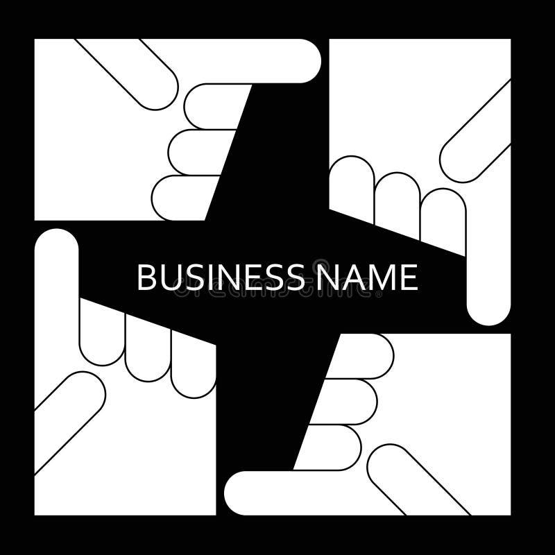 Dirección punteaguda de la mano Línea del vector del negocio del logotipo libre illustration